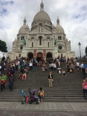 Standing in front of the beautiful Sacré-Cœur